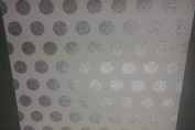 12x12 Cardstock Papers - Glitter Silver Polka Dots - 2pcs