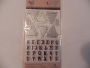 Art C Stamp & Cut - Banner & Alphabet
