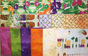 19 fat quarters Cultivate Your Joy by Peg Conley from Clothworks 100% Cotton Quilt Gardening Fabric