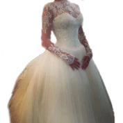 Sweetheart Ball Gown Lace Backless Wedding Dresses