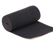 Usew 15cm Wide Black Extra Strong Knit Heavy Stretch High Elasticity Elastic Band - 3 Yards