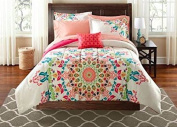 Teen Girls FULL Rainbow Unique Prism Pink Blue Green Colourful Patten Bedding Set