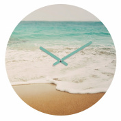 DENY Designs Bree Madden Ombre Beach Round Clock, 30cm Round