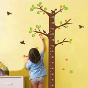Dream Tree Flowers Birds Animals Height Measurement Wall Decal PVC Home Sticker House Vinyl Paper Decoration WallPaper Living Room Bedroom Kitchen Art Picture DIY Murals Girls Boys kids Nursery Baby Playroom Decor
