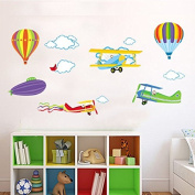 Hot Air Balloons Cloud Watermelon Planes Bird Wall Decal PVC Home Sticker House Vinyl Paper Decoration WallPaper Living Room Bedroom Kitchen Art Picture DIY Murals Girls Boys kids Nursery Baby Playroom Decor