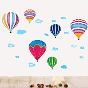 Hot Air Balloons Cloud Wall Decal PVC Home Sticker House Vinyl Paper Decoration WallPaper Living Room Bedroom Kitchen Art Picture DIY Murals Girls Boys kids Nursery Baby Playroom Decor