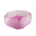 Hexagon Playpen w/ Mesh & Carry Tote (Balls NOT Included) for Children Baby Infant Kid Child Pink