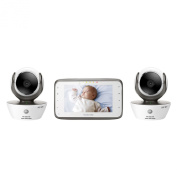 Motorola MBP854CONNECT-2 Dual Mode Baby Monitor with 2 Cameras and 11cm LCD Parent Monitor and Wi-Fi Internet Viewing