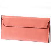 H & J Women's Oil Wax Leather Wallet Bifold Smartphone Detachable Card Holder