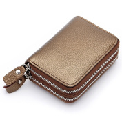 Genuine Leather RFID blocking Identity Safe Card Wallet