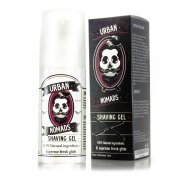 Shaving Gel by Urban Nomads - Hand Crafted in Barcelona - 3-in-1 Pre Shave Oil, Shave Gel, and Moisturiser - Jojoba Oil, Peppermint, Vitamin E, and Other Essential Oils - All Natural - 100ml