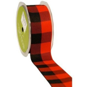 3.8cm Wide Ribbon Red and Black Jumbo Cheque
