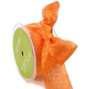 1.6cm Wide Ribbon Orange and Yellow Two Tone