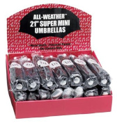 All-Weather 24Pc Set Of Black Umbrellas In Display Box