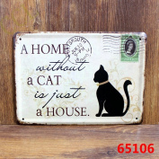 Vintage Metal Sign - Cat