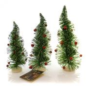 Christmas RETRO TWIST TREES Plastic Glittered Lg2681