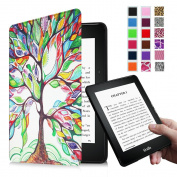 Fintie Kindle Voyage SmartShell Case - [Oriental Breeze Series] The Thinnest and Lightest Protective Cover with Auto Sleep/Wake for Amazon Kindle Voyage (2014), Love Tree