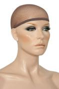 3 Pack Mesh Net Wig Cap Liner Dark Brown