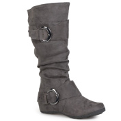 Journee Collection Women's 'Jester-0.3m Regular and Wide-calf Slouch Buckle Boot