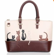 Women Animal Contrast Color Handbags Cat Shoulder Bags Rabbit Crossbody Bags
