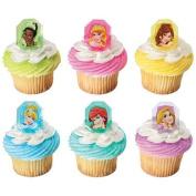 Disney Princess Jewel Cupcake Rings. 24 Count Cupcake Toppers