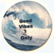 Car Coasters - Good Vibes Only. Absorbent Car Coasters - 2 Pack