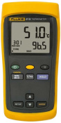 Fluke 51-2 60HZCAL Single Input Digital Thermometer, 3 AA Battery, -418 to 2501 Degree F Range, 60 Hz Noise Rejection with a NIST-Traceable Calibration Certificate with Data