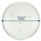 HQRP 12.5-inch Glass Turntable Tray for Amana DE74-20015 DE74-20015B DE74-20015G-F DE74-20015F R0813119 MW96TP1178802M R0813200 14200206 Microwave Oven Cooking Plate 318mm + HQRP Coaster