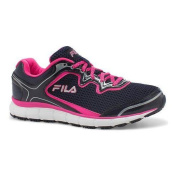 Women's Fila Memory Fresh Start SR Shoe Fila Navy/Pink Glo/White