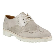 Women's Spring Step Pop Lace Up Shoe Taupe Leather/Nubuck
