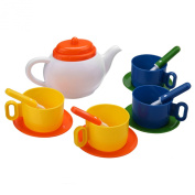 Arshiner Littler Kids Pretend Play Kitchen Set Tea Coffee Dishes Cup Spoon 13 Pieces/ Set
