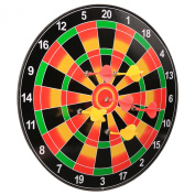 Arshiner Children's Safety Magnetic Dart Board Set with 6pcs Flexible Toys