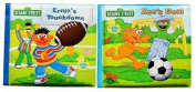 123 Sesame Street Bath Time Bubble Books, Zoe's Goal and Ernie's Touchdown, 2-book Set