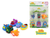 Little Treasures Land Water Air Mania - Baby bath toy set for  .   toddlers; train, helicopter, aeroplane, hovercraft, tug boat and motorboat