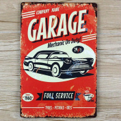 Retro Metal Tin Sign - Garage