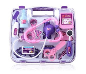 Yorking™ Deluxe Simulation Learning Resources Pretend Play Medical Doctor Nurse Role Play Set Kids Children Education Toy Gift-Purple