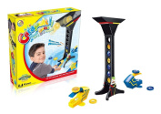 Catapult Aiming Game - new, advanced aiming skills of launching darts; an exciting contest between 1-2 players with a long tower having target holders