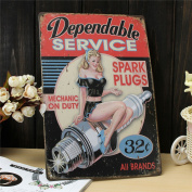 Retro Metal Tin Sign - Mechanic Service