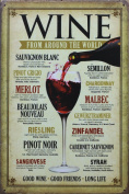Retro Metal Tin Sign - Wine from around the World