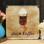 Vintage Metal Sign - Irish Coffee