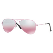 Ray-Ban Junior RJ9506S Pink Metal Pilot Sunglasses