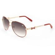 Women's GLO Bow Temple Metal Aviator Sunglasses