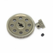 11184 Steel Diff Differential Main Metal Spur Gear 64T & 11119 Motor Gear 17T RC Replacement Parts for Redcat HSP 1/10 Monster Truck
