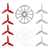 Hooray! Service Syma 3-Blade 3-Leaf Upgrade Propellers & Prop Guards for Syma X5C-1 X5A X5C X5SC X5SW JJRC H5C RC Quadcopter