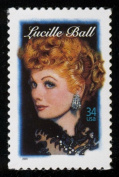Lucille Ball Single 34 Cent U.S. Postage Stamp Scott 3523