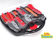 Little Treasures Tools Case set realistic game toy toolkit play set for 3+ agers preschoolers