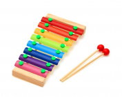 Zerowin Baby Kid Wooden 8-Note Xylophone Musical Toys ,Size Small 23cm