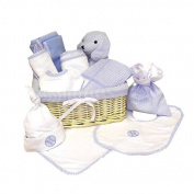 Trend Lab Deluxe 12 Piece Gift Basket Set in Blue