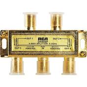 RCA DH44SPF Signal Splitter 4-way High Bandwidth, 3GHz