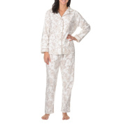 La Cera Women's Long Sleeve Floral Print Pyjama Set